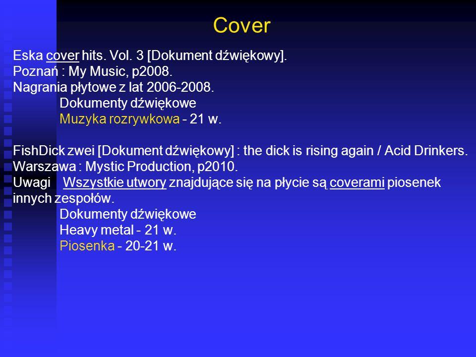 Cover Eska cover hits. Vol. 3 [Dokument dźwiękowy].
